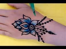 ᴴᴰ Easy Diy Simple Beautiful Mehndi Henna Blue Colour