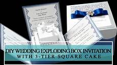 how to make diy wedding exploding box invitation with 3
