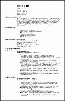 free entry level accounting finance resume templates