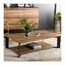 Table Basse En Bois De Teck Et M 233 Tal Au Style Industriel