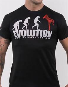 tiger muay thai t shirt quot evolution quot soft tech black