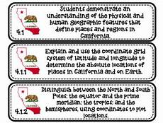 4th grade california science and social studies standards