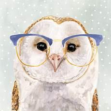 wandsticker eule eule mit brille poster online bestellen posterlounge ch