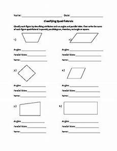 quadrilaterals worksheet by ms g s elementary resources tpt