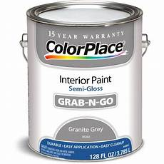 colorplace granite gray gloss interior paint 1 gallon walmart com