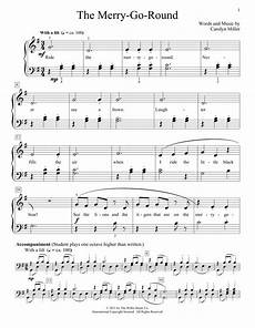 the merry go round sheet music carolyn miller educational piano