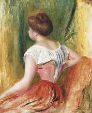 Pierre-Auguste Renoir Seated Young Woman