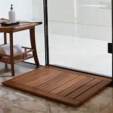 duschmatte holz badezimmer duschmatte fu 223 matte aus massiven teakholz 76