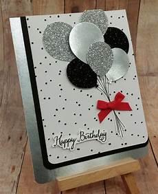 sparkly happy birthday balloons handmade birthday cards