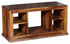 contemporary solid wood open shelf tv stand media console