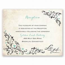 wedding reception card templates blossoming reception card s bridal bargains