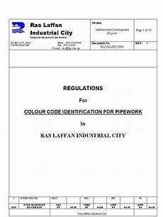 regulations for color code for piping systems color