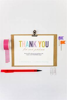 business thank you cards template instant naturally