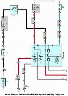 wiring diagrams 2004 toyota corolla anti brake system wiring diagram