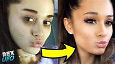 grande ungeschminkt cantantes famosos maquillaje celebridades antes y