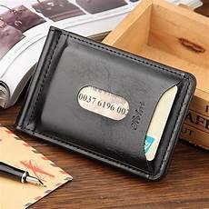 dompet kartu dengan klip uang kertas berbahan kulit bawa banyak kartu dengan mudah rapi