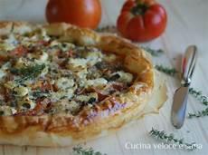 cucina sana e veloce torta salata con pomodori e robiola profumata al timo
