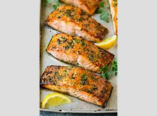 salmon fillets bathed in garlic_image