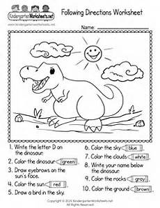 following directions worksheet free kindergarten learning worksheet for