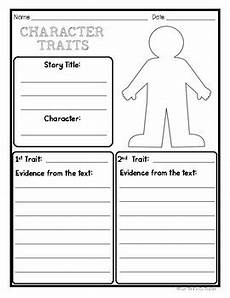 character traits graphic organizer worksheet by your thrifty co teacher