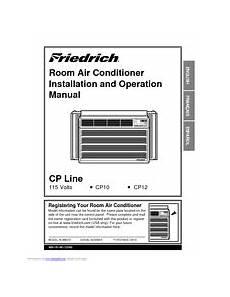 friedrich cp10c10 manuals