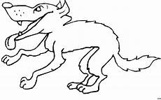 gieriger wolf ausmalbild malvorlage comics