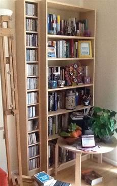 bookcase cd storage unit ikea billy gnedby birch veneer