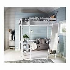 struttura letto a soppalco stor 197 struttura per letto a soppalco mordente bianco ikea