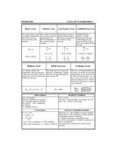 gas laws worksheet with answers chemistry gas laws