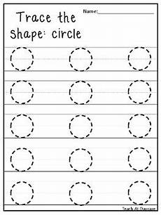 trace the shapes tracing worksheets preschool kdg math by teach at daycare