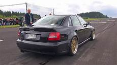 1000hp audi s4 b5 anti lag sound flames accelerations