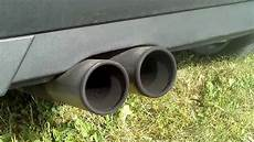 vw golf 3 rondell exhaust sound 2x90mm