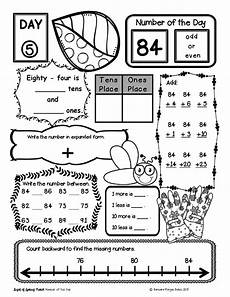 s day worksheets grade 2 20361 place value number sense practice number of the day morning work bundle 2nd grade math