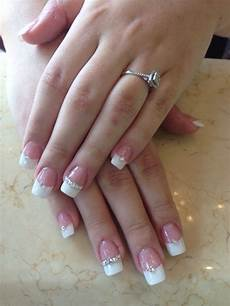 cute french tips with images diamond nail designs