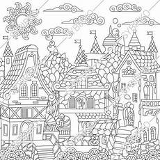 tale coloring sheets 14927 coloring pages for adults fairytale town tale castle coloring pages