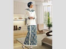 Model Baju Kurung Modern Terbaru Dengan Kombinasi Motif
