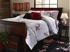 cherry blossom bedding white comforter sham full queen king ebay