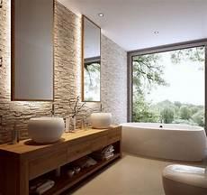 badezimmer holz waschtisch natursteinwand holz waschtisch und spiegel mit