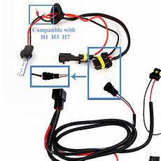 h1 wire harness 1 set h1 h3 h7 h11 9005 9006 hb4 hid conversion kit relay wire harness xotic tech