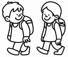 Schule Und Familie Ausmalbild Drucken Ausmalbild Schule Kinder Auf Dem Schulweg Kostenlos