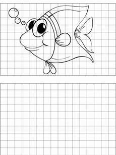 graph paper coloring pages 17652 big eyed fish drawing coloring page