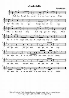 jingle bells vocal line voice sheet cantorion