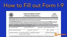 how to fill out form i 9 easy step by step instructions youtube