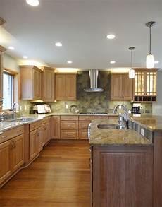 Kitchen Backsplash Ideas With Birch Cabinets by This Saline Kitchen Remodel Features Birch Cabinets