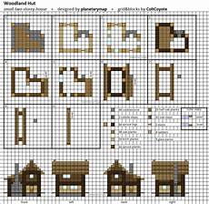 minecraft house plans woodland hut small minecraft house blueprint by