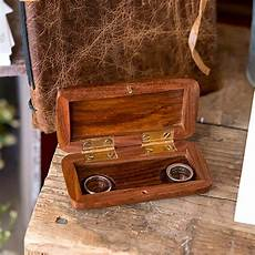 pocket size wooden wedding ring box the knot shop