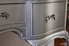 how to paint furniture metallic silver paint looks