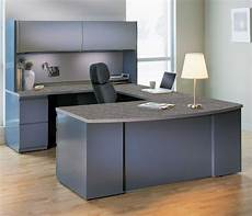 simple white table l paired with grey office furniture