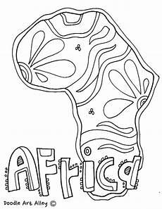 Malvorlagen Afrikanische Tiere Continent Coloring Pages Classroom Doodles