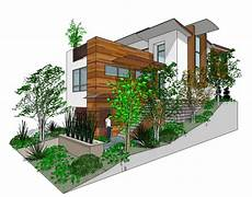 steep slope house plans modern style house plan 3 beds 3 5 baths 1990 sq ft plan